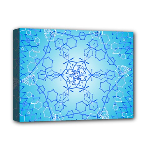 Design Winter Snowflake Decoration Deluxe Canvas 16  X 12