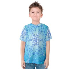 Design Winter Snowflake Decoration Kids  Cotton Tee