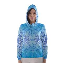 Design Winter Snowflake Decoration Hooded Wind Breaker (Women)