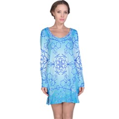 Design Winter Snowflake Decoration Long Sleeve Nightdress