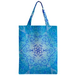 Design Winter Snowflake Decoration Zipper Classic Tote Bag