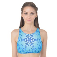 Design Winter Snowflake Decoration Tank Bikini Top