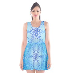Design Winter Snowflake Decoration Scoop Neck Skater Dress