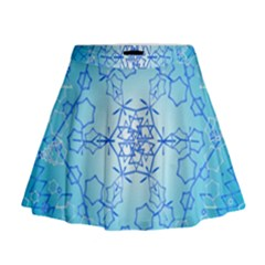 Design Winter Snowflake Decoration Mini Flare Skirt