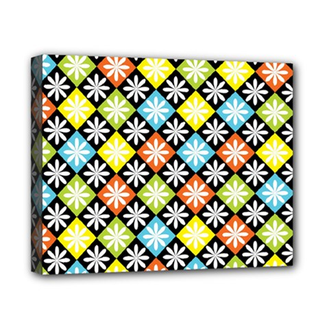 Diamonds Argyle Pattern Canvas 10  x 8