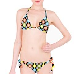 Diamonds Argyle Pattern Bikini Set