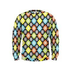 Diamonds Argyle Pattern Kids  Sweatshirt