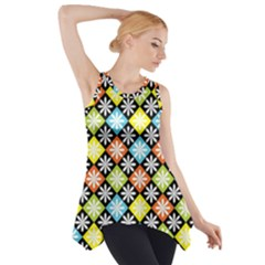 Diamonds Argyle Pattern Side Drop Tank Tunic
