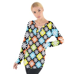 Diamonds Argyle Pattern Women s Tie Up Tee