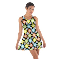 Diamonds Argyle Pattern Cotton Racerback Dress