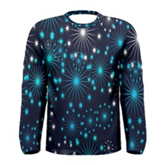 Digitally Created Snowflake Pattern Men s Long Sleeve Tee