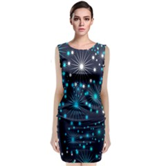 Digitally Created Snowflake Pattern Classic Sleeveless Midi Dress