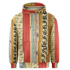 Digitally Created Collage Pattern Made Up Of Patterned Stripes Men s Pullover Hoodie
