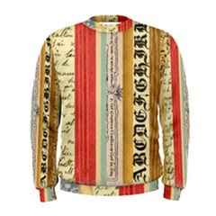 Digitally Created Collage Pattern Made Up Of Patterned Stripes Men s Sweatshirt