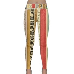 Digitally Created Collage Pattern Made Up Of Patterned Stripes Classic Yoga Leggings