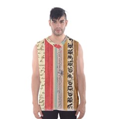 Digitally Created Collage Pattern Made Up Of Patterned Stripes Men s Basketball Tank Top