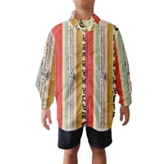 Digitally Created Collage Pattern Made Up Of Patterned Stripes Wind Breaker (kids)