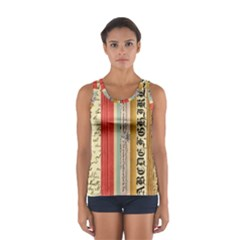 Digitally Created Collage Pattern Made Up Of Patterned Stripes Women s Sport Tank Top