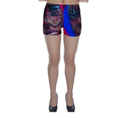 Display Dummy Binary Board Digital Skinny Shorts