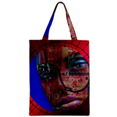 Display Dummy Binary Board Digital Zipper Classic Tote Bag