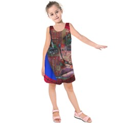 Display Dummy Binary Board Digital Kids  Sleeveless Dress