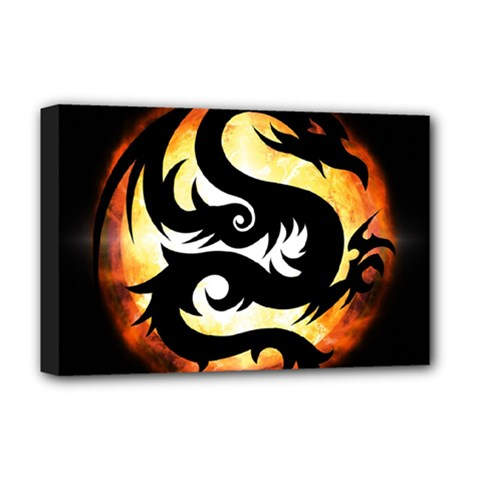 Dragon Fire Monster Creature Deluxe Canvas 18  x 12