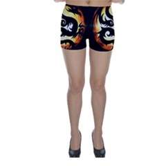 Dragon Fire Monster Creature Skinny Shorts