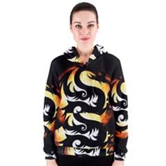 Dragon Fire Monster Creature Women s Zipper Hoodie