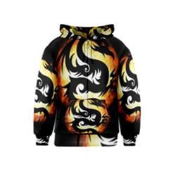 Dragon Fire Monster Creature Kids  Zipper Hoodie