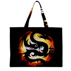 Dragon Fire Monster Creature Zipper Mini Tote Bag