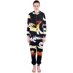 Dragon Fire Monster Creature Hooded Jumpsuit (ladies)