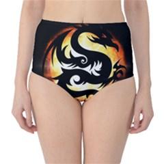 Dragon Fire Monster Creature High Waist Bikini Bottoms