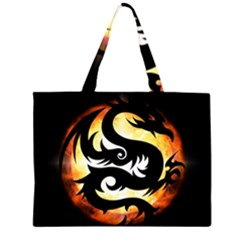 Dragon Fire Monster Creature Large Tote Bag