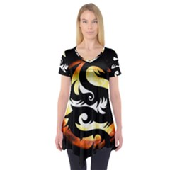 Dragon Fire Monster Creature Short Sleeve Tunic
