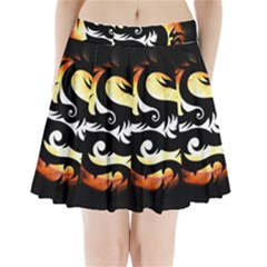 Dragon Fire Monster Creature Pleated Mini Skirt
