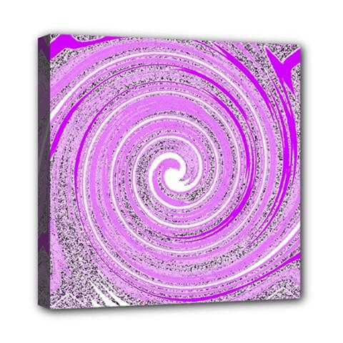 Digital Purple Party Pattern Mini Canvas 8  X 8
