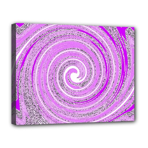 Digital Purple Party Pattern Canvas 14  x 11