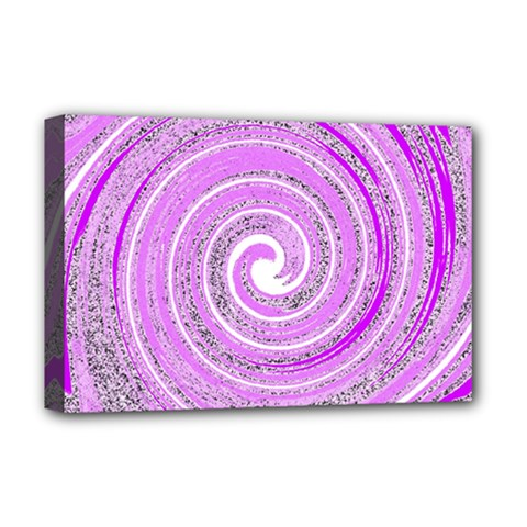 Digital Purple Party Pattern Deluxe Canvas 18  x 12