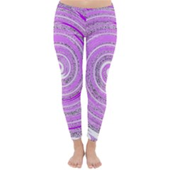 Digital Purple Party Pattern Classic Winter Leggings
