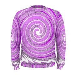 Digital Purple Party Pattern Men s Sweatshirt