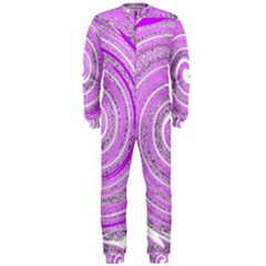 Digital Purple Party Pattern Onepiece Jumpsuit (men)