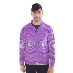 Digital Purple Party Pattern Wind Breaker (Men)
