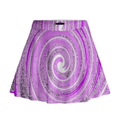 Digital Purple Party Pattern Mini Flare Skirt