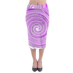 Digital Purple Party Pattern Midi Pencil Skirt