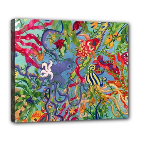 Dubai Abstract Art Deluxe Canvas 24  X 20
