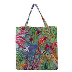 Dubai Abstract Art Grocery Tote Bag
