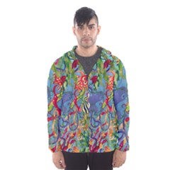 Dubai Abstract Art Hooded Wind Breaker (Men)
