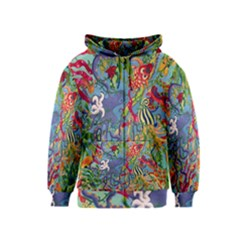 Dubai Abstract Art Kids  Zipper Hoodie