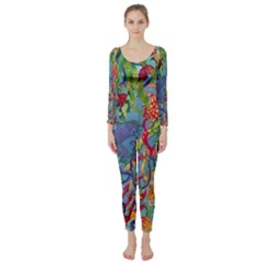 Dubai Abstract Art Long Sleeve Catsuit
