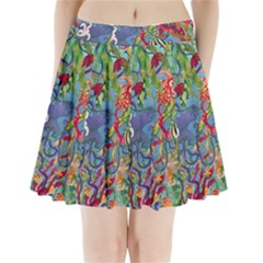 Dubai Abstract Art Pleated Mini Skirt